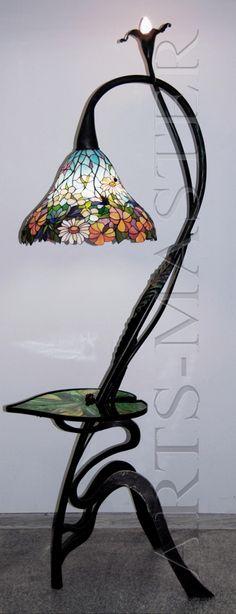 Кованый торшер «Цветы полевые»