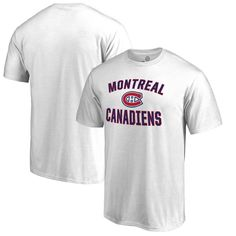 Montreal Canadiens Fanatics Branded Big & Tall Victory Arch T-Shirt - White