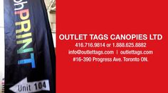 PRINTED PROMOTIONAL 12 FOOT FLAG by OutletTags Canopies