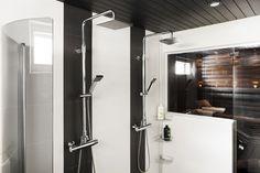 Modernit kattosuihkut antavat kylpyhuoneelle tyylikkään ilmeen. Klikkaa kuvaa, niin näet tarkemmat tiedot.