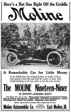 1909 Moline Automobile Advertisement