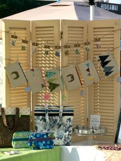 old shutters for display
