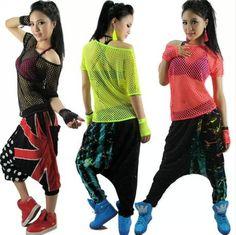 Hip Hop women top dance  performance costume