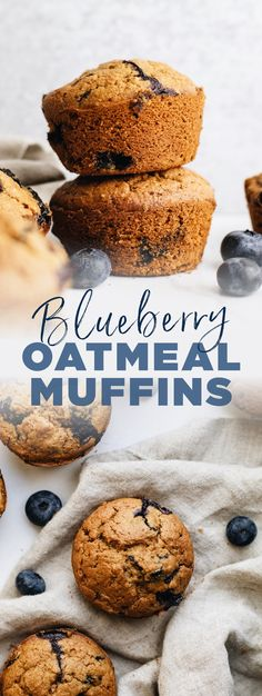 These healthy blueberry oatmeal muffins are perfect for an on-the-go snack or breakfast! They're filled with hearty oat flour, fresh blueberries, and naturally sweetened with coconut sugar. A super delicious breakfast muffin without the guilt! | asimplepalate.com #muffins #blueberrymuffins #breakfast #oatflour Oatmeal Blueberry Muffins Healthy, Healthy Breakfast Muffins, Healthy Muffin Recipes, Healthy Baking, Coconut Sugar Recipes, Oat Flour Recipes, Oats Recipes, Gluten Free Baking, Gluten Free Desserts