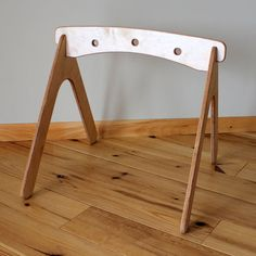 Natural Wood Baby Gym by HighlandWood on Etsy, $90.00