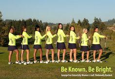 The new Women's Golf team poster