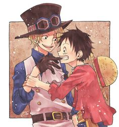 Luffy e Sabo One Piece ルフィ, One Piece Meme, One Piece Funny, One Piece Drawing, One Piece Comic, One Piece Fanart, Haikyuu Anime, Anime Chibi, Ace Sabo Luffy