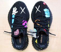 Sneaker customizer imagines what a KAWS x adidas Yeezy Boost collab might look like.