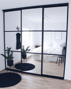 Tag Your Friends Who'd Love This Design! Swipe left to see more … 📍Interior Goals? Tag Your Friends Who'd Love This Design! Swipe left to see more from this beautiful cosy house design by in Norway . Small Bedroom Wardrobe, Closet Bedroom, Home Bedroom, Room Decor Bedroom, Master Closet, Modern Bedroom, Master Bedroom, Mirrored Wardrobe Doors, Sliding Wardrobe Doors