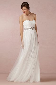 Strapless wedding dress. BHLDN, Spring 2014