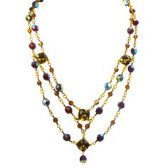 Ready to Wear by Alzerina Kyara Swarovski Gold Plated Necklace