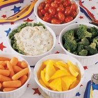 Gold-Medal Vegetable Dip Recipe via @tasteofhome  #Olympic Inspired #Party #Treats