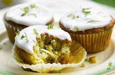 Courgettes aren't just delicious in savoury recipes. You can turn them into sweet treats or even cakes like these tasty courgette and lime muffins.