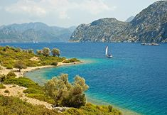 This photo from Mugla, Aegean is titled 'Turquoise'. Morocco Beach, Free Background Photos, Our Planet Earth, Landscaping Images, Holiday Travel, Beautiful Landscapes, Coast, Stock Photos, Vacation