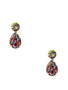 shine on glitter double drop earrings - Kate Spade New York