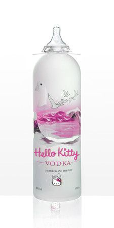 Hello Kitty Vodka!!  (FYI... this is not a real product, it was just created for some art exhibit...)