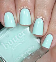 butter london: fiver. love that this is more of a blue-toned green.