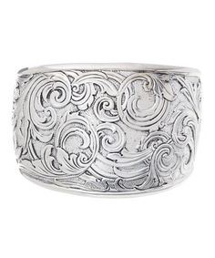 Look what I found on Sterling Silver Floral Swirl Cuff Bracelet by Barse Stylish Jewelry, Cute Jewelry, Fashion Jewelry, Women's Fashion, Best Jewellery Design, Scarf Jewelry, Jewelery, Sterling Silver, Bracelets