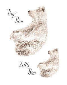 Big Bear Little Bear by LouiseDeanDesign on Etsy