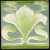 Vileroy & Boch Art Nouveau Tile. Mettlach, Germany.