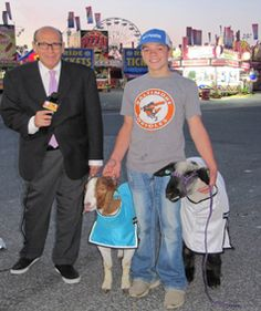 Ron Matz interviews 4-H Champion Tate Bittner with two of his animals on MY MD State Fair Opening Day.