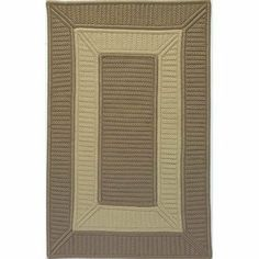 Colonial Mills TO95 Tournament Cafe Tostado/Linen Rug Rug Size: Square 5' by Colonial Mills. $197.99. TO95R060X060S Rug Size: Square 5' Features: -Technique: Braided / Cablelock.-Material: 100pct Polypropylene.-Origin: United States.-Crisp border-in-border reversible indoor / outdoor rugs.-Perfect for kids rooms, play areas, or to just add a little spice to a room.-Reversible for twice the wear.-Stain, Fade, and Mildew Resistant. Construction: -Construction: Handmade. Dimen...