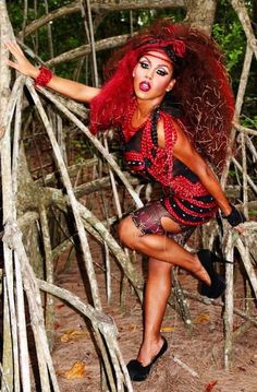 """Kenya Michaels will be on the upcoming season of """"RuPaul's Drag Race"""" She is from Dorado, Puerto Rico, and is one hell of a good performer. Kenya Michaels, Drag Race Season 4, Rupaul Drag Queen, Tgirls, Role Models, Beautiful People, Drag Queens, Wonder Woman, Female"""