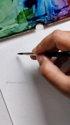 Watercolor Beginner, Watercolor Paintings For Beginners, Watercolor Art Lessons, Painting Lessons, Watercolor Techniques, Watercolor Flowers Tutorial, Watercolour Tutorials, Floral Watercolor, Watercolors