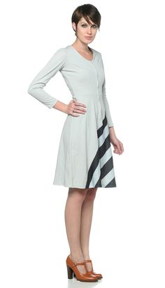 70s Graphic Op Art Dress Striped by oldage, $53.00