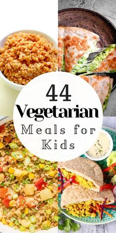 A useful collection of 33 easy, healthy, vegan and vegetarian meals for kids that also happen to be gluten-free ! #vegetarianmealsforkids