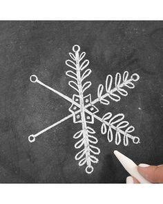 How to Draw Elegant Snowflake Chalk-Art | Martha Stewart