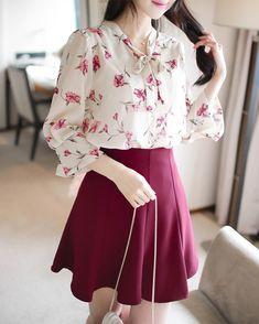 Korean Fashion Dress, Ulzzang Fashion, Korean Dress, Korean Outfits, Asian Fashion, Skirt Fashion, Fashion Dresses, Cute Skirt Outfits, Girly Outfits