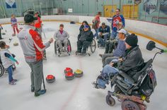 Wheelchair curling provides new opportunities Ice Station, Wheelchairs, New Opportunities, Curling, Horseback Riding, Valencia, Opportunity, Baby Strollers, Hollywood