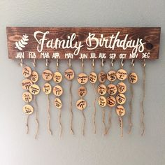 family birthdays | wood sign | diy do it yourself kit | handmade home decor