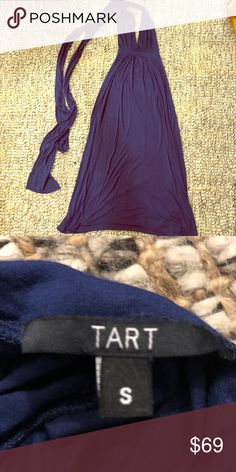 Tart Infinity Dress Maxi - worm once One dress, but a multitude of styles! Navy. Worn once. Check out the ways it can be wrapped: https://www.tartcollections.com/collections/dresses/products/infinity-dress-maxi?variant=1712608280604 Tart Collections Dresses Maxi