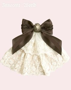 Lolibrary | Innocent World - Accessories - Cameo and 2 Tier Lace Jabot