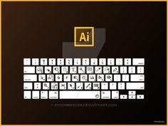 Illustrator Keyboard Shortcuts QWERTY by ensombrecer.deviantart.com on @DeviantArt