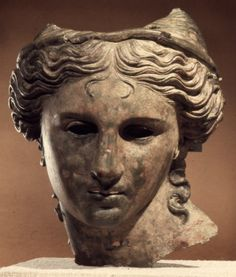 The Satala Aphrodite: Bronze head from a cult statue of Anahita in the guise of Aphrodite or Artemis. Late Hellenistic, 1st century BCE