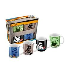 Star Wars - Pack de 4 Mugs Personnages