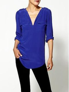 Great colors to choose from-perfect over skinny pants. Joie Marlo Silk Top | Piperlime