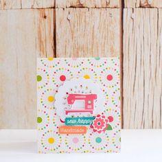 Sew Happy card by designer Evelyn Pratiwi Yusuf featuring Jillibean Soup Sew Sweet Sunshine Soup