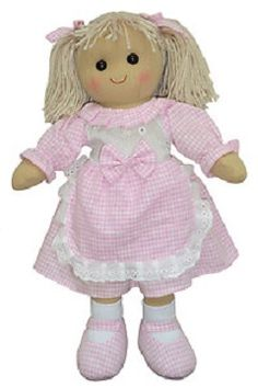 Personalised Pink Gingham Rag Doll - Heidi