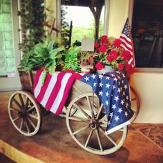Goat cart- decorated for July 4th!