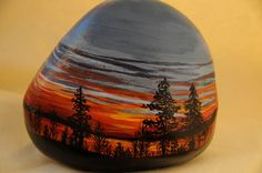 Beautiful painted rock ... simply beautiful.