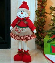Plush Girl Snowman, 23 in.This adorable Plush Girl Snowman is ready to bring festive, holiday cheer to…christmas woodland snowman ready to ski decoration - PIPicStatsBrighten your home with cheerful Christmas home decor from Kirkland's. Christmas Sewing, Christmas Fabric, Christmas Wood, Christmas Snowman, All Things Christmas, Christmas Ornaments, Christmas Stockings, Christmas Holidays, Indoor Christmas Decorations