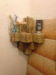 Esquinero de cubos de madera de una #palets