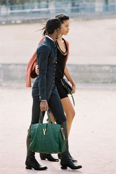 Jeneil and Grace and that green YSL bag go for a stroll in the City of Lights