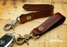 Blackthorn Leather Key Fob / Key Chain / Key by BlackthornLeather