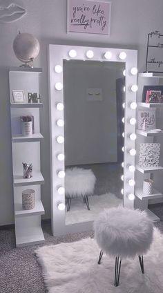 Cute Bedroom Decor, Bedroom Decor For Teen Girls, Room Design Bedroom, Teen Room Decor, Stylish Bedroom, Room Ideas Bedroom, Beauty Room Decor, Cozy Room, Aesthetic Bedroom