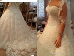 2014 Luxury A Line Beaded Sweetheart Lace Over Tulle Corset Closure Chapel Train Vestidos Garden Wedding Dresses Dhyz 01 Wedding Lace Beach Wedding Gowns From Hua_yi_zhang, $176.89| Dhgate.Com